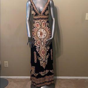 Angie paisley pattern maxi boho dress